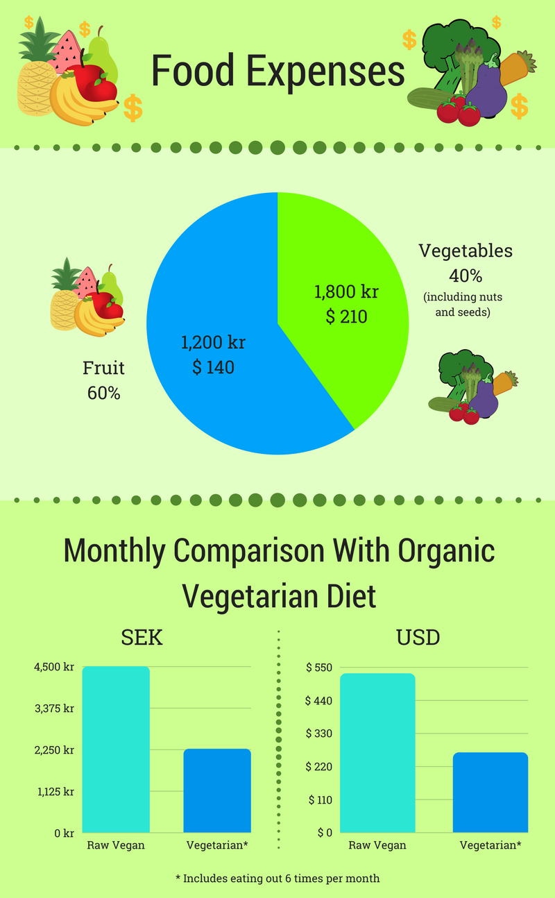 Raw Vegan Experiment Food Expense